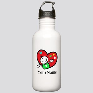 Happy Heart (p) Water Bottle